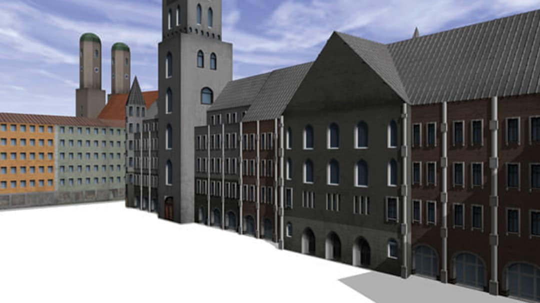 3D images of building facedes in CityEngine software