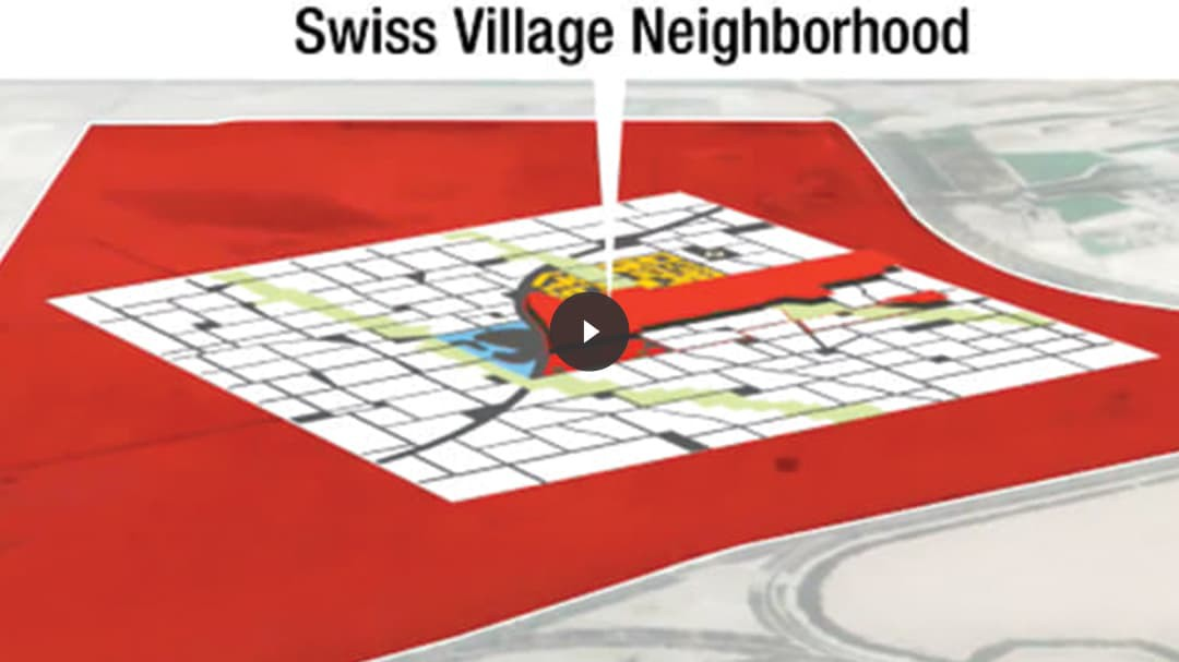 Video thumbnail with rendering from Swiss Village neighborhood.